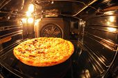 Pizza Inside Oven
