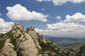 Vista de las montañas de Montserrat en España