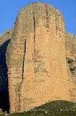 montañas rocosas denominadas Mallos, Riglos, Aragon, España