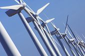 group aligned modern windmills for renewable electric energy production