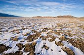 Winter Tundra Desert Landscape Great Basin Area Western Usa