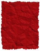 Red Crumpled paper