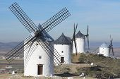 traditional windmills in Consuegra, Toledo, Castilla La Mancha, spain