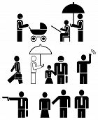 People - stylized icons