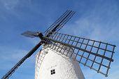 forefront of  the blades of a traditional windmill in Consuegra, Toledo, Castilla La Mancha, spain