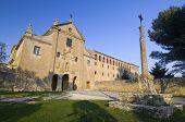Außenansicht des Heiligtums Valentunana, Sos del Rey Catolico, Zaragoza, Aragon, Spanien