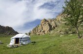 Mongolian ger in Gorkhi-Terelji National Park, Mongolia