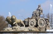 voorgrond van de Cibeles fontein, Madrid, Spanje