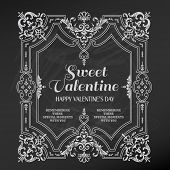 Vintage Valentine's Day Card Design - love, wedding - in vector