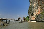 picture of james bond island  - Khao Phing Kan island in Phang Nga Bay Thailand home of James Bond island in The Man with the Golden Gun - JPG