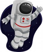 image of outerspace  - Illustration of an Astronaut Waving from Space - JPG