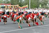 Tatarsk, Russia: June 27, 2013 - The Culture Olympics Competition Of Novosibirsk Region. Women In Ru