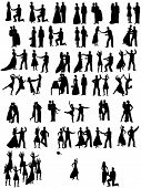 lot of Wedding Couples Silhouettes
