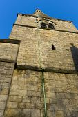 stock photo of lightning-rod  - A copper lightning rod affixed to the tower of St Wilfrid - JPG