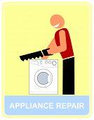 Reparação e serviço de eletrodomésticos