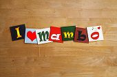 I Love Mambo, Sign Series For Dancing And Dance Music.