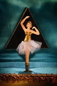 foto of jewel-case  - Vintage music box with ballerina - JPG