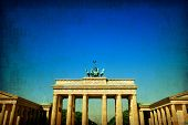 stock photo of rebuilt  - Brandenburg Gate  - JPG
