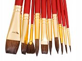 Set Of New Paintbrushes Close Up