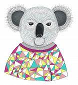 Cute Hipster Koala.