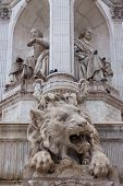 The Lion Sculture On The St Sulpice Fountain