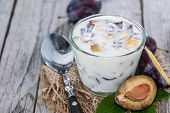 Homemade Plum Yogurt