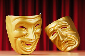 picture of pantomime  - Masks with the theatre concept - JPG