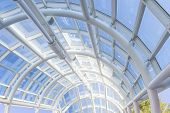Panoramic Roof Made Of White Bended Tubes