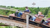 Kaatsheuvel/the Netherlands - May 23Th, 2014: Efteling Park Ride Joris En De Draak Rising Above The