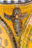 Ceiling angel in Hagia Sophia Istanbul