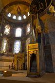 Hagia Sophia Minbar Interior Istanbul