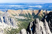 view to Belianske Tatras from Lomnicky Peak, Slovakia
