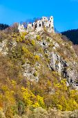 ruins of castle called Stary hrad near Strecno, Slovakia
