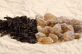 Brown Rock Candy Sugar And Black Tea