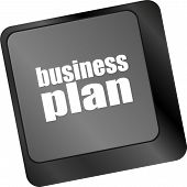 Business Plan Button On Computer Keyboard Key