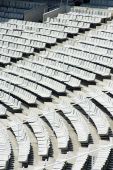stock photo of escuela  - Empty athletics stadium seats  - JPG