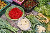 Vegetable Market In Thailand