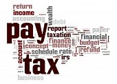 Pay Tax Word Cloud