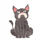 cartoon grumpy little dog