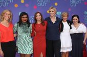 LOS ANGELES - JUN 9:  Heather Kadin, Mindy Kaling, Chelsea Peretti, Jane Lynch, Yeardley Smith, Alex