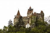 stock photo of dracula  - Vlad Tepes castle who became known as the infamous Dracula - JPG