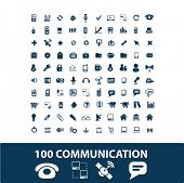 communication, connection, network, phone, internet icons set, vector