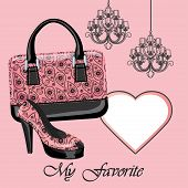 Women's Shoe,handbag, Label , Chandeliers