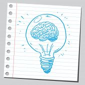 pic of lightbulb  - Brain in lightbulb - JPG