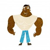 cartoon body builder