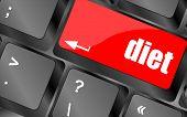 Health Diet Button On Computer Pc Keyboard
