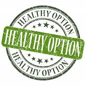 Healthy Option Green Grunge Textured Vintage Isolated Stamp
