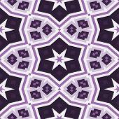 Seamless Kaleidoscope Pattern In Violet