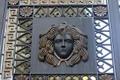 image of medusa  - Head of Medusa on a gate in Istanbul Turkey - JPG