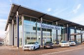 Samara, Russia - November 1, 2014: Office Of Official Dealer Mercedes-benz. Mercedes-benz Is A Germa
